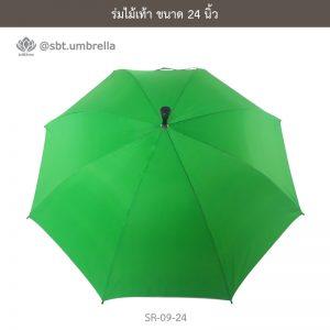 ร่มไม้เท้า เกรด A ขนาด 24 นิ้ว สีเขียว